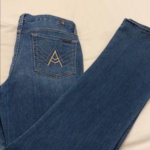 7 fam A pocket jean, women's size 32, mid blue